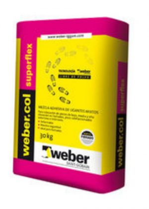Weber col Superflex (losa rad.fachadas) x 30 Kg