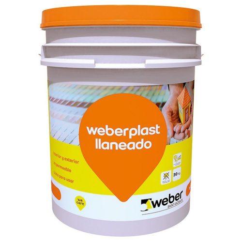 revestimiento plástico weberplast llaneado