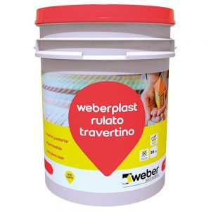 revestimiento plástico weberplast rulato travertino