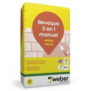 weber mix e (revoque exterior 3 en 1) x 30 kg